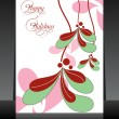Stock Vector: Beautiful design greeting card for happy holidays