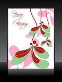 Tarjeta de felicitación de diseño hermoso para felices fiestas — Vector de stock