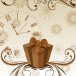 Royalty-Free Stock Imagem Vetorial: Vector gift, clock and  floral decorative abstraction background