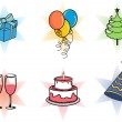 set of Christmas icons for Christmas, party & other occasions. — Stock Vector