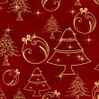 Royalty-Free Stock Vector Image: Elegant seamless pattern with Chrtistmas elements for all events.