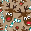 Christmas theme with cute Rudolph for Christmas &amp; other occasions. - Stock Vector