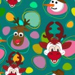 Royalty-Free Stock Vector Image: Christmas element seamless background for Christmas & other events.