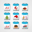 Set of elements for Christmas & New year - Imagen vectorial