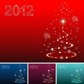 Artistic & creative Christmas tree with 2012 text for Christmas — Stock Vector