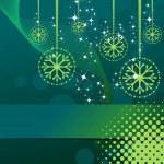 Vánoční vzor s předsazením hvězdy vločky míč pro Krista — Stock vektor