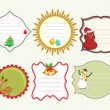 Set of vector Christmas tags. — Stock Vector #7845474