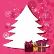 Abstract Christmas tree with Colorful gift boxes for Christmas & - Stock Vector
