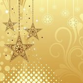 Background with Christmas stars illustration. — Stock Vector