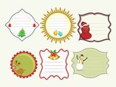 Set of vector Christmas tags. — Stock Vector