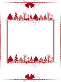 Vintage Christmas frame with the Christmas ornaments. Vector ill — Stock Vector