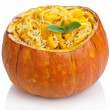 Stock Photo: Pumpkin risotto isolated
