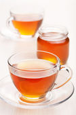 Tea with honey — Stock Photo