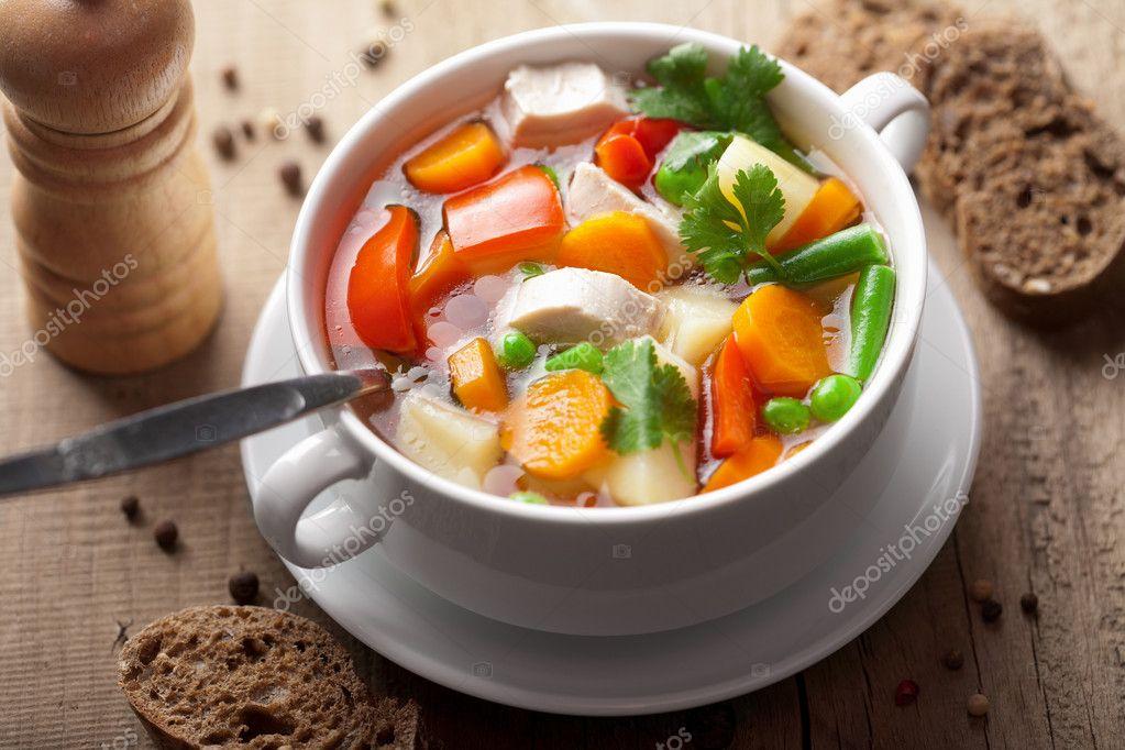 Куриный суп с овощами рецепты
