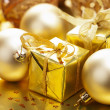 Christmas gifts and decoration — Stock Photo