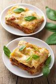 Classic lasagna bolognese — Stock Photo