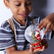 A Handsome little African American Boy playing — Stock Photo #7728362