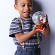 A Handsome little African American Boy playing — Stock Photo