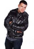 Image of cheerful male wearing jacket — Stock Photo