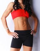 Closeup of fitness woman`s body — Zdjęcie stockowe