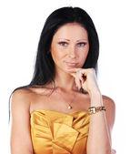 Portrait of sexy woman on dress — Stock Photo