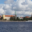 Riga, Latvia. View of old town - Stock Photo