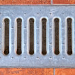 Lattice of the storm water drain — Stock Photo