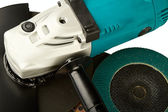 Grinding car and abrasive disks — Stockfoto