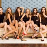 Group of beautiful models — Stock Photo