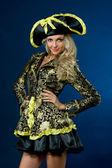 Belle femme en costume de carnaval. forme de l'impératrice. — Photo