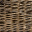 Stock Photo: Wooden old braided basket