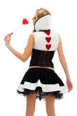 женщина в карнавальном наряде. домино форму — Стоковое фото