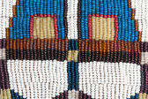 Part of authentic Indian beaded collar. Texture. — Stock Photo