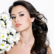 Royalty-Free Stock Photo: Portrait of woman with flowers