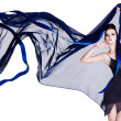 Glamour woman with blowing chiffon — Stock Photo #6836665