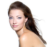 Face of a sexy beautiful young woman — Stock Photo