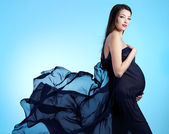 Young beautiful sexy and stylish pregnant woman — Stock Photo