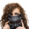 Girl in mask — Stock Photo