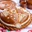 Traditional Moldovan loaf. — Stock Photo