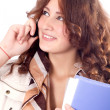Cell Phone business Woman — Stock Photo