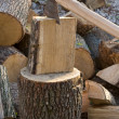 Chopping wood — Foto de stock #7400858