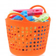 Color clothes-pegs — Stock Photo