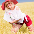 Woman with hat — Stock Photo #6893936