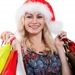 Christmas woman with shopping bags — Stock Photo #6933533