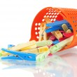 Stock Photo: Color clothes-pegs