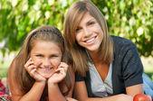 Siostry szczęśliwy — Zdjęcie stockowe