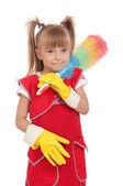 Little housewife — Stock Photo