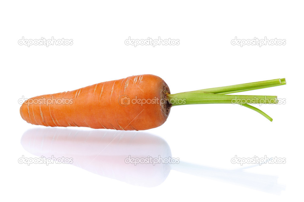 Fresh young carrot isolated over a white background  Stock Photo #7128452