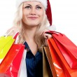 Christmas woman with shopping bags — Stock Photo #7408673