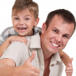 Happy dad and son — Stock Photo #7536122